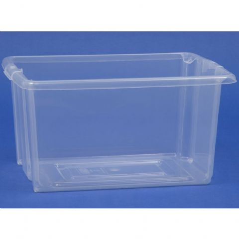 Clear Stacking Shelf Storage Boxes
